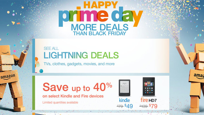 Screenshot showing an amazon promotional banner
