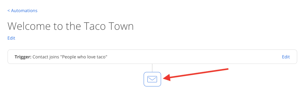 Screenshot of steps to add new emails into Automation in Sumo