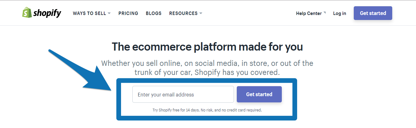 Call to action on shopify