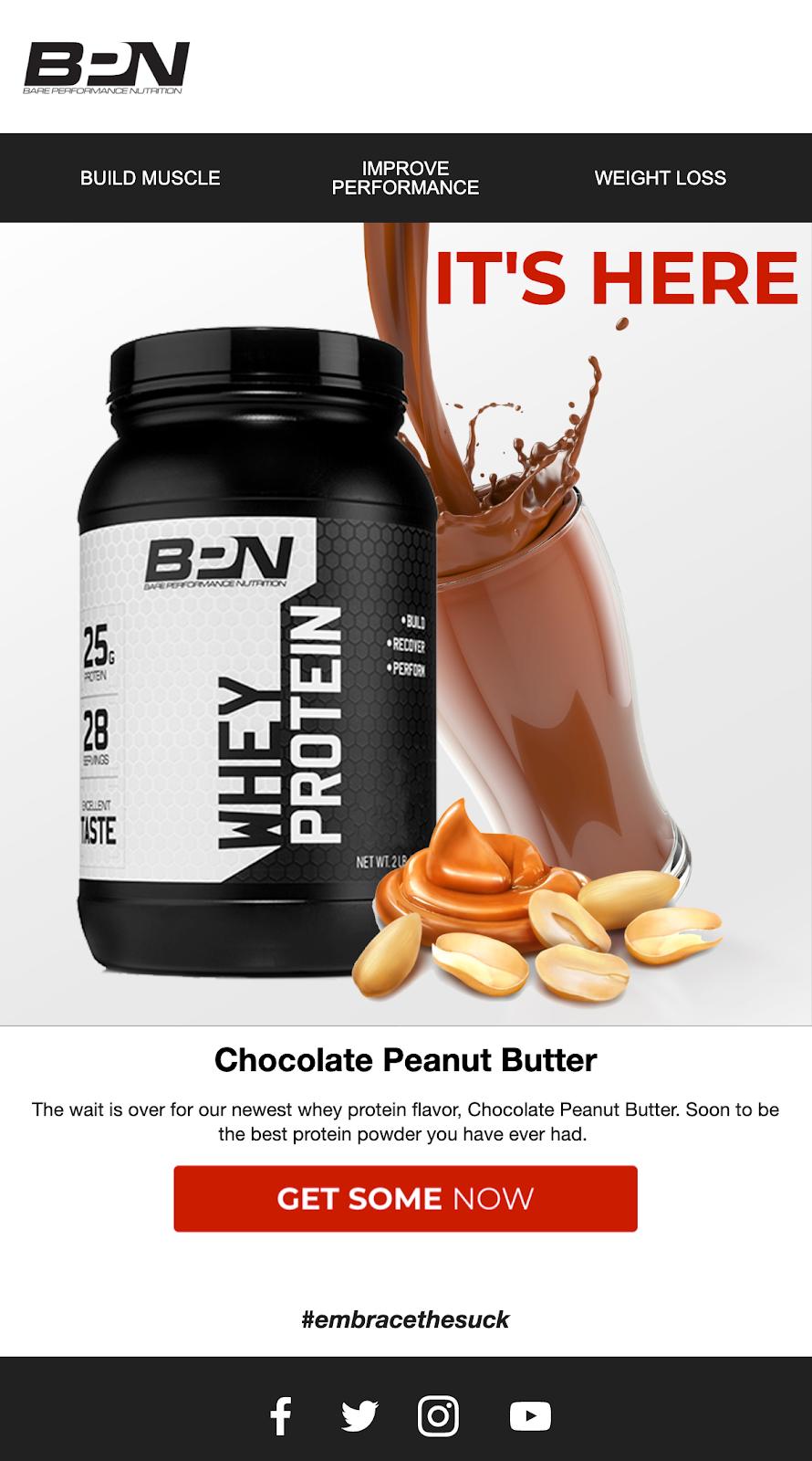 Screenshot of BPN email