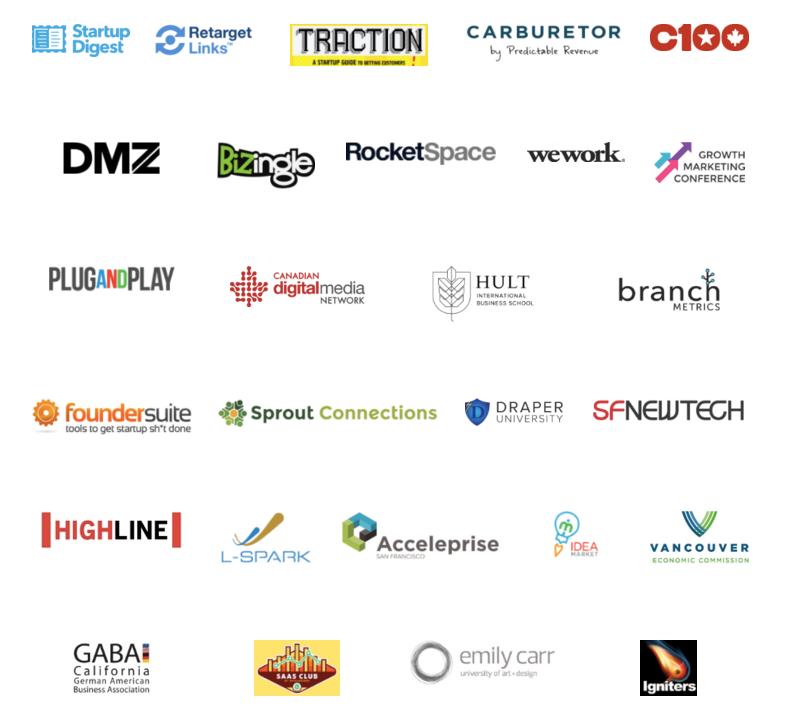 Screenshot showing many logos together
