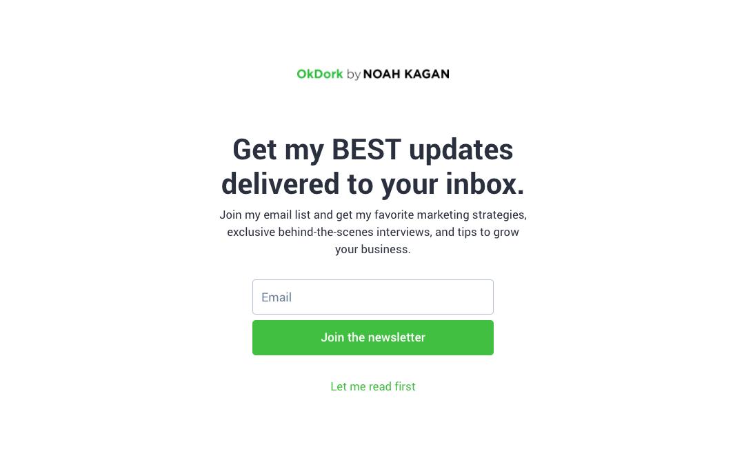 Herramientas de Autoresponder por correo electrónico: Noah Kagan