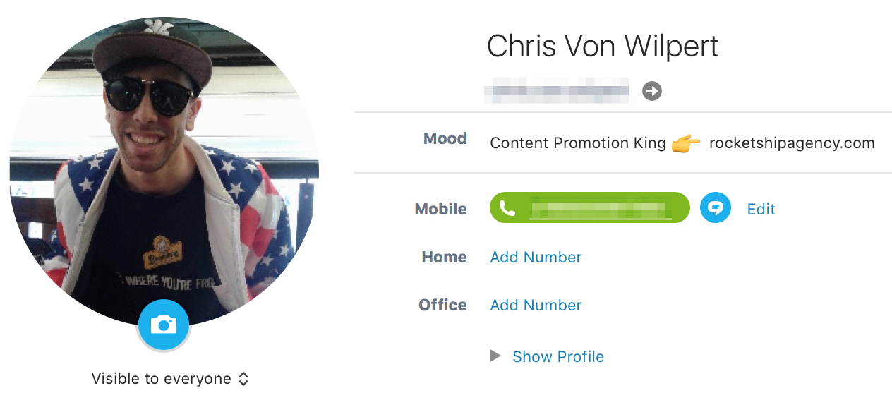 Screenshot of Chris Von Wilpert