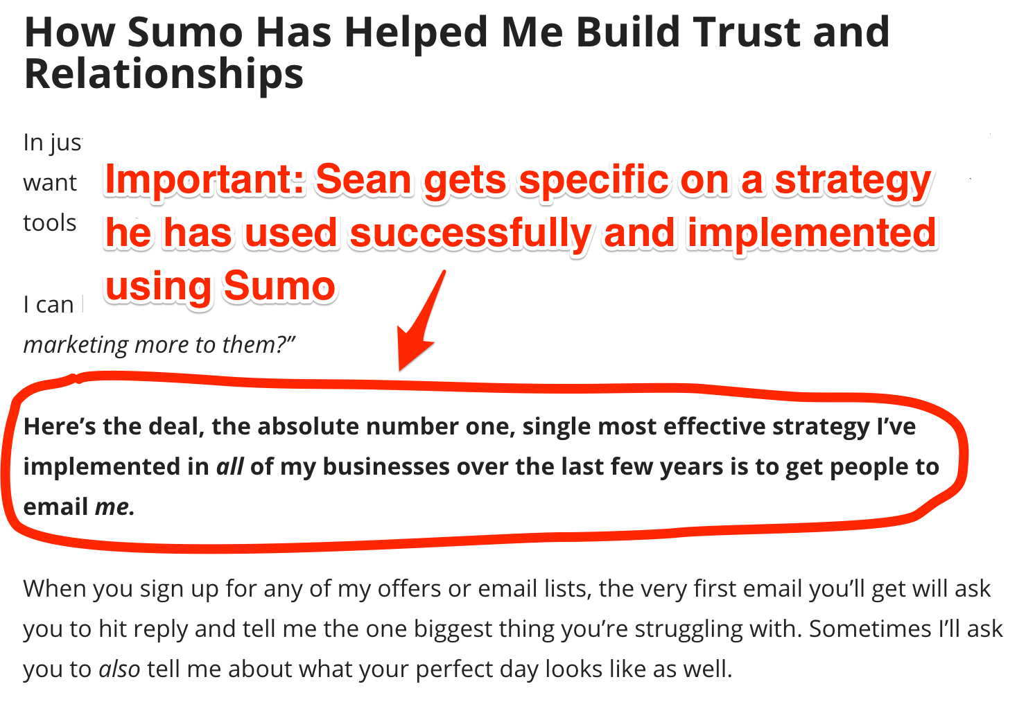 Screenshot showing a Sumo review