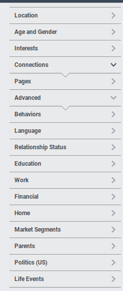 Screenshot showing audience determinants