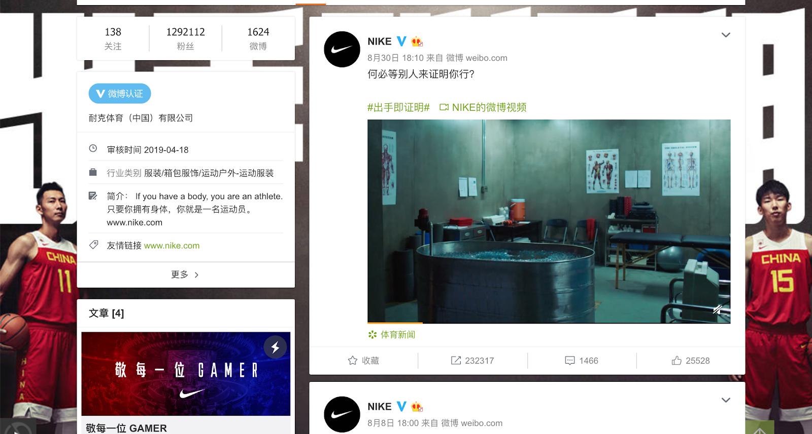 Global Marketing Strategy: Screenshot of Nike