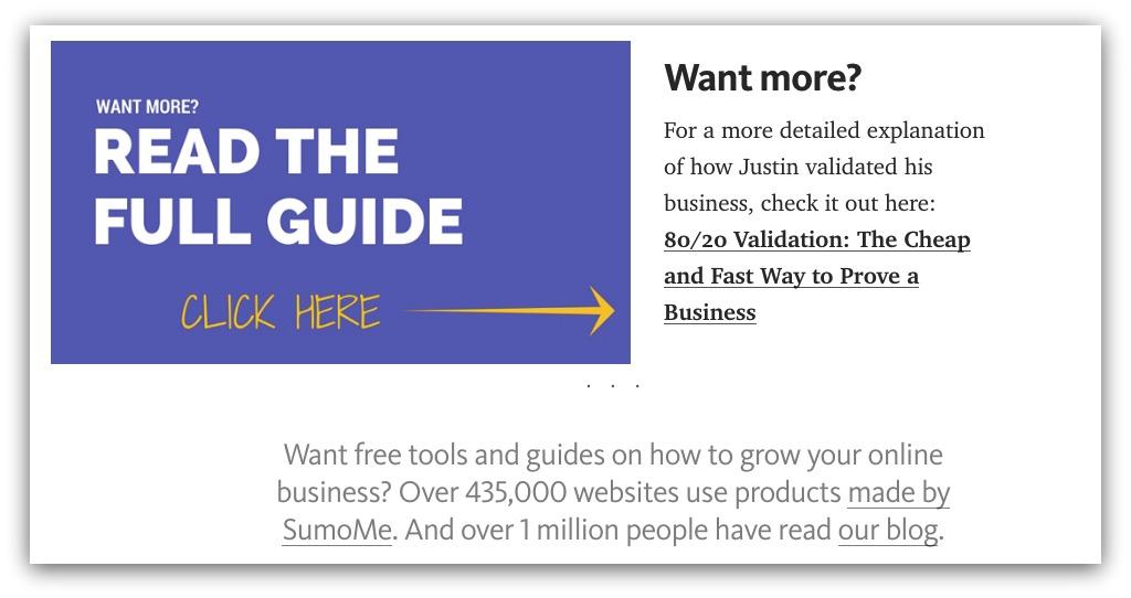 Screenshot showing a Medium article and a CTA below