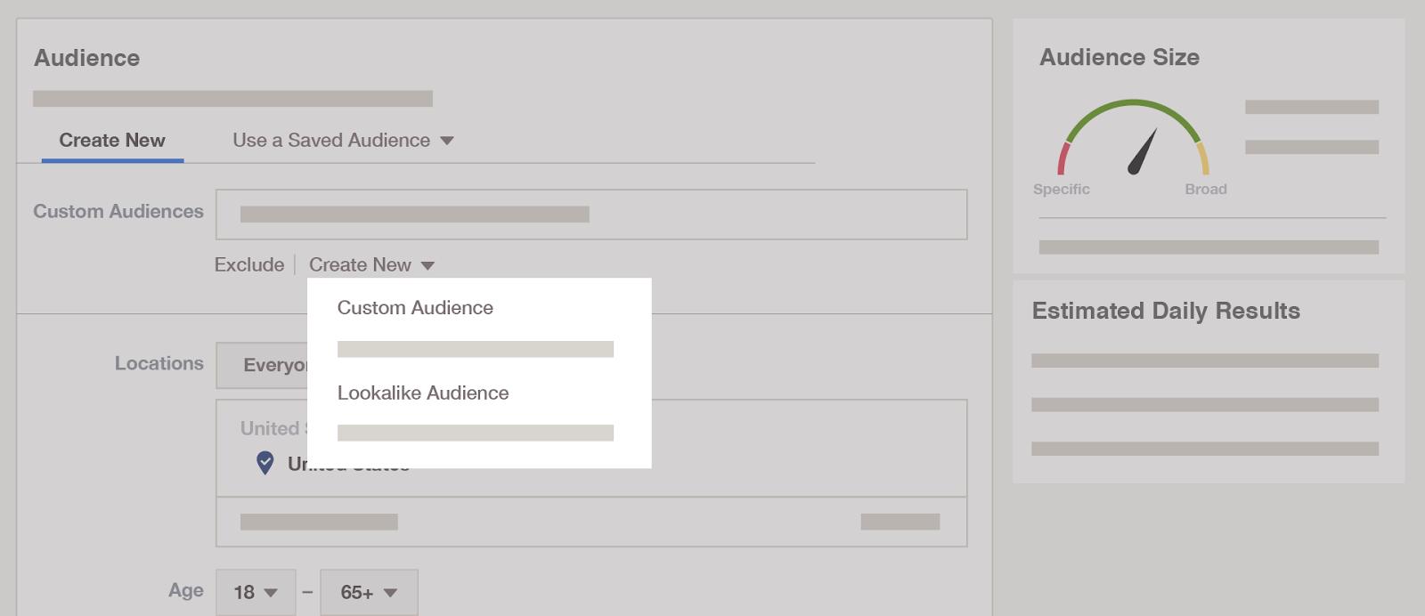 Email list set up - Lookalike Audience.
