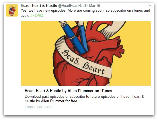head heart and hustle tweet