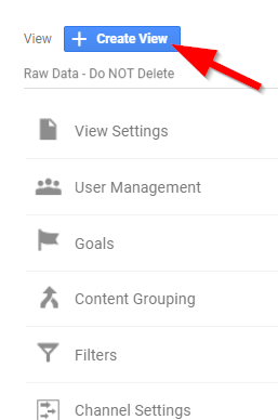 Screenshot showing Google Analytics admin settings