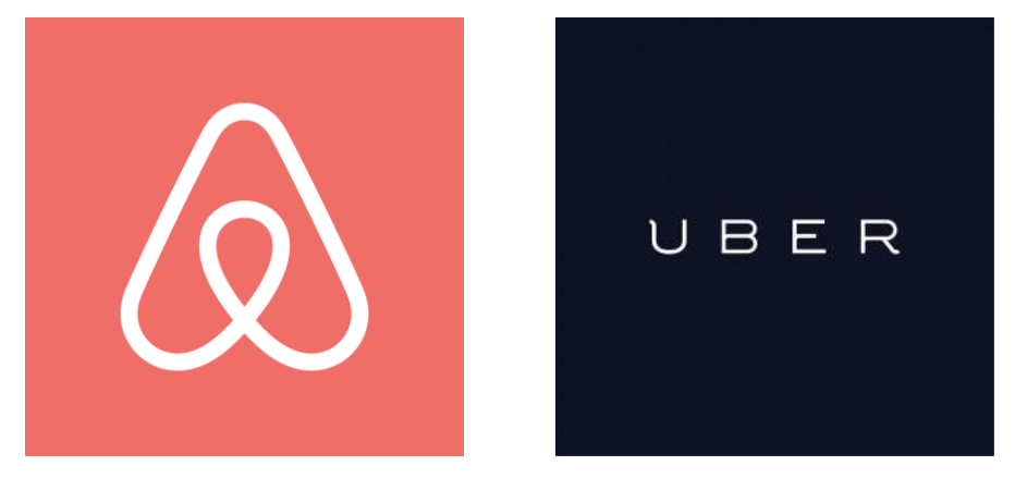 Screenshot showing Uber and Airbnb logos
