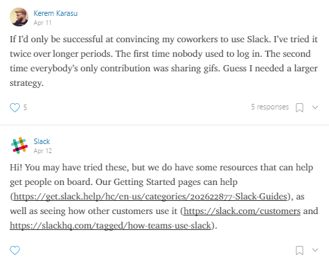 Screenshot showing Slack