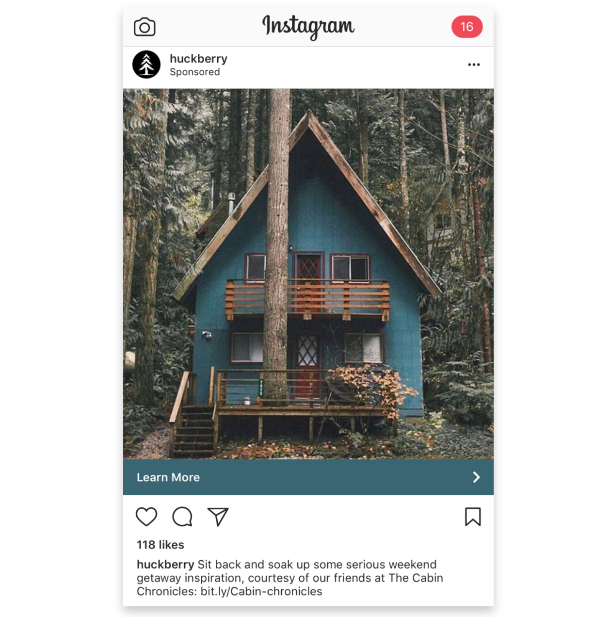 Screenshot showing an Instagram post by Huckberry