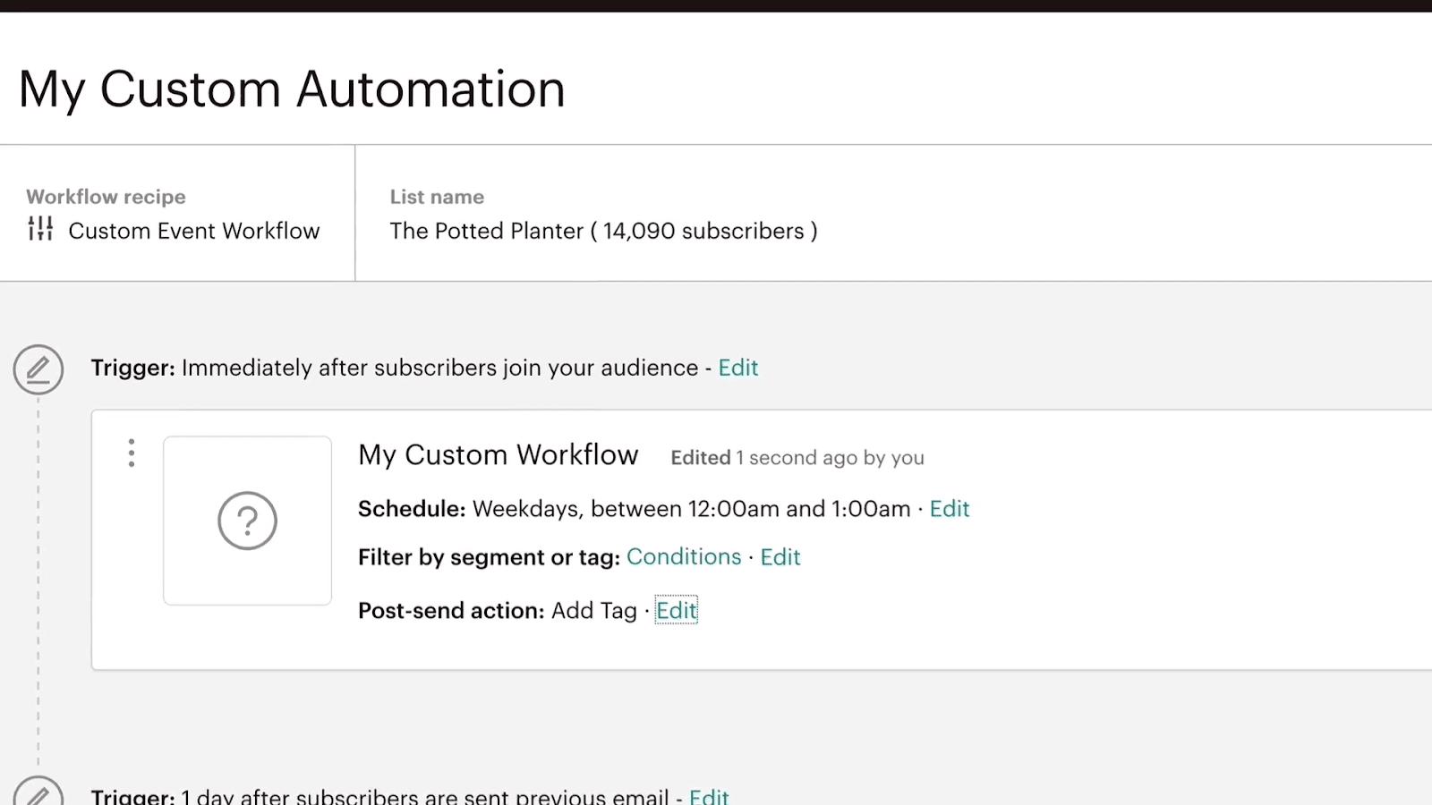 Herramientas de respuesta automática de correo electrónico: Automatización de MailChimp