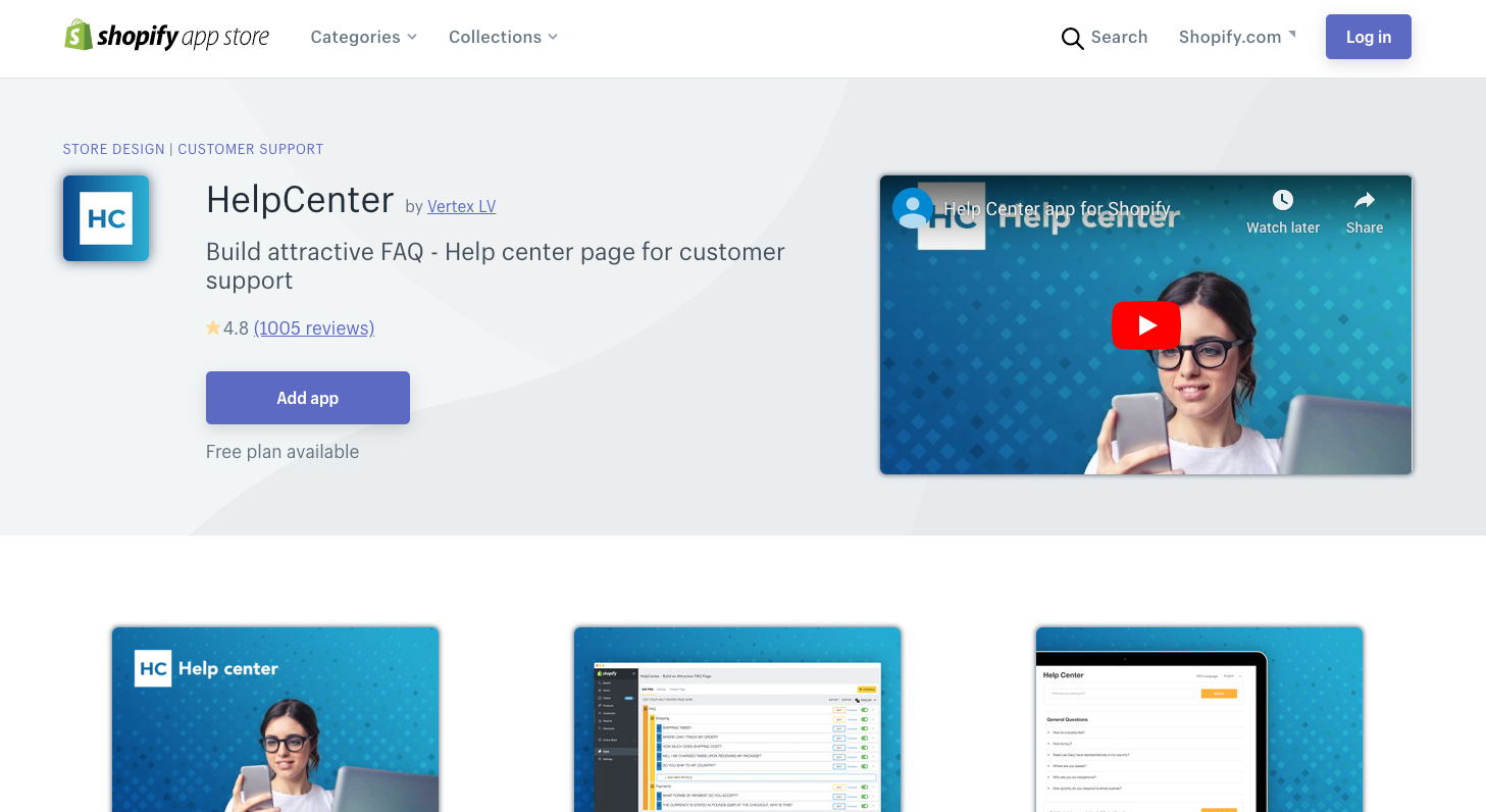 HelpCenter shopify app