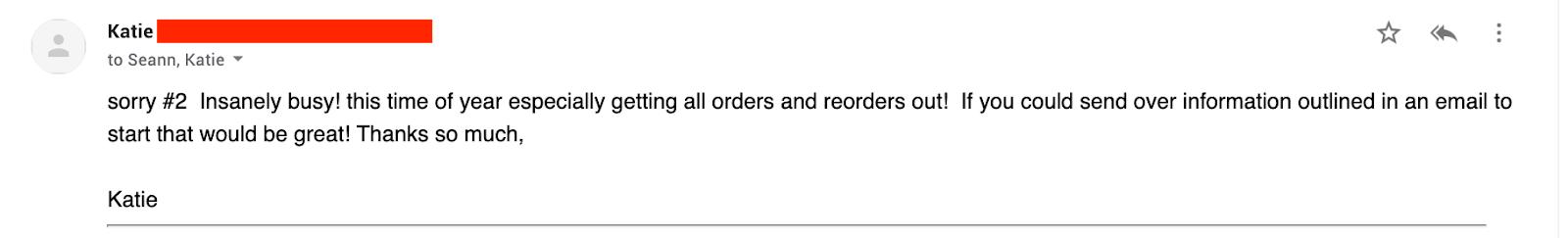 Screenshot of follow-up email #4