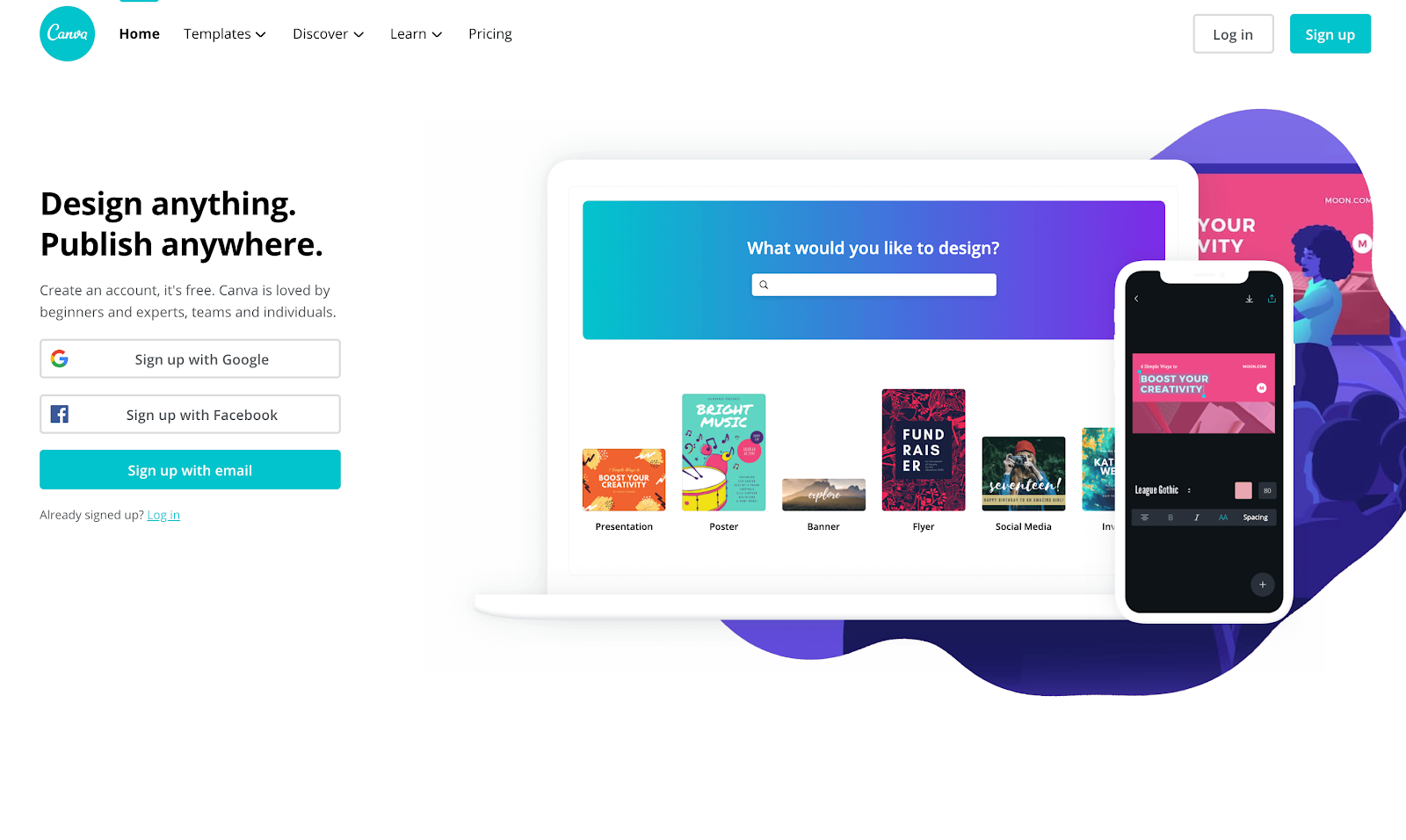 Best Homepages Online - Canva