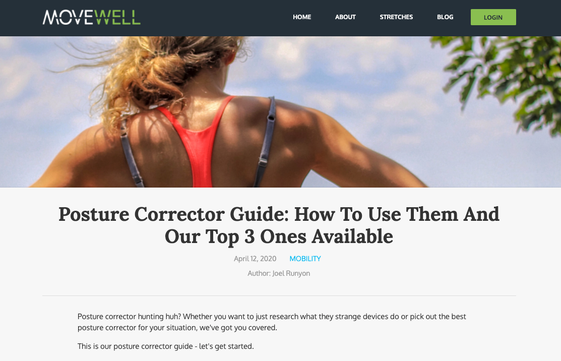 Movewell - Posture corrector Guide