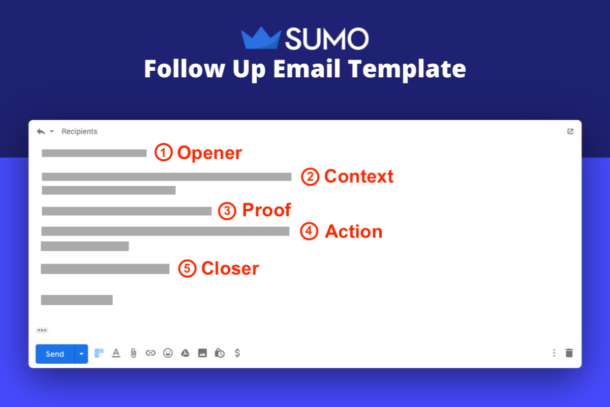 Follow-Up Email: Screenshot of Sumo email follow-up email template