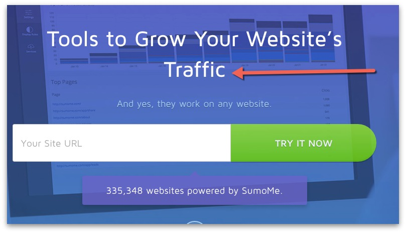 sumo grow website traffic