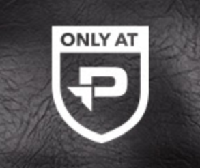 "Screenshot showing an ""only at P"" logo"