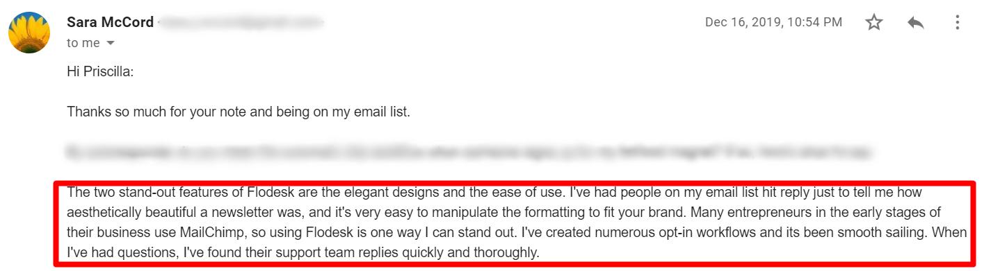Herramientas de respuesta automática por correo electrónico: testimonio de Flodesk