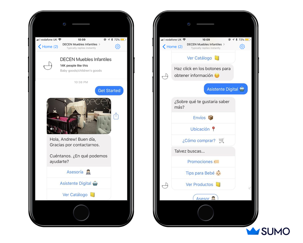 Screenshot showing a messenger conversation