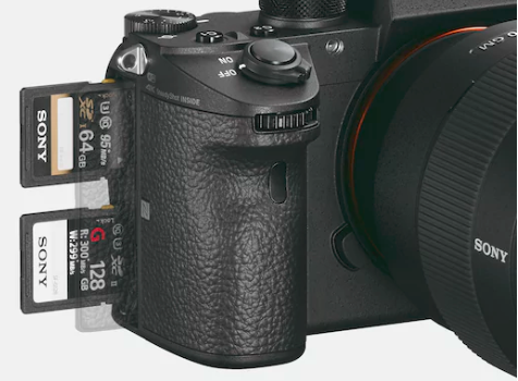 Image showing a camera with two SD cards