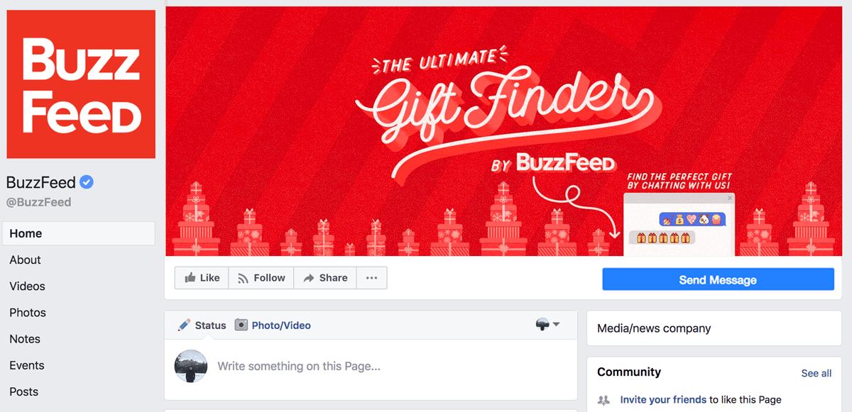 Screenshot showing Buzzfeed