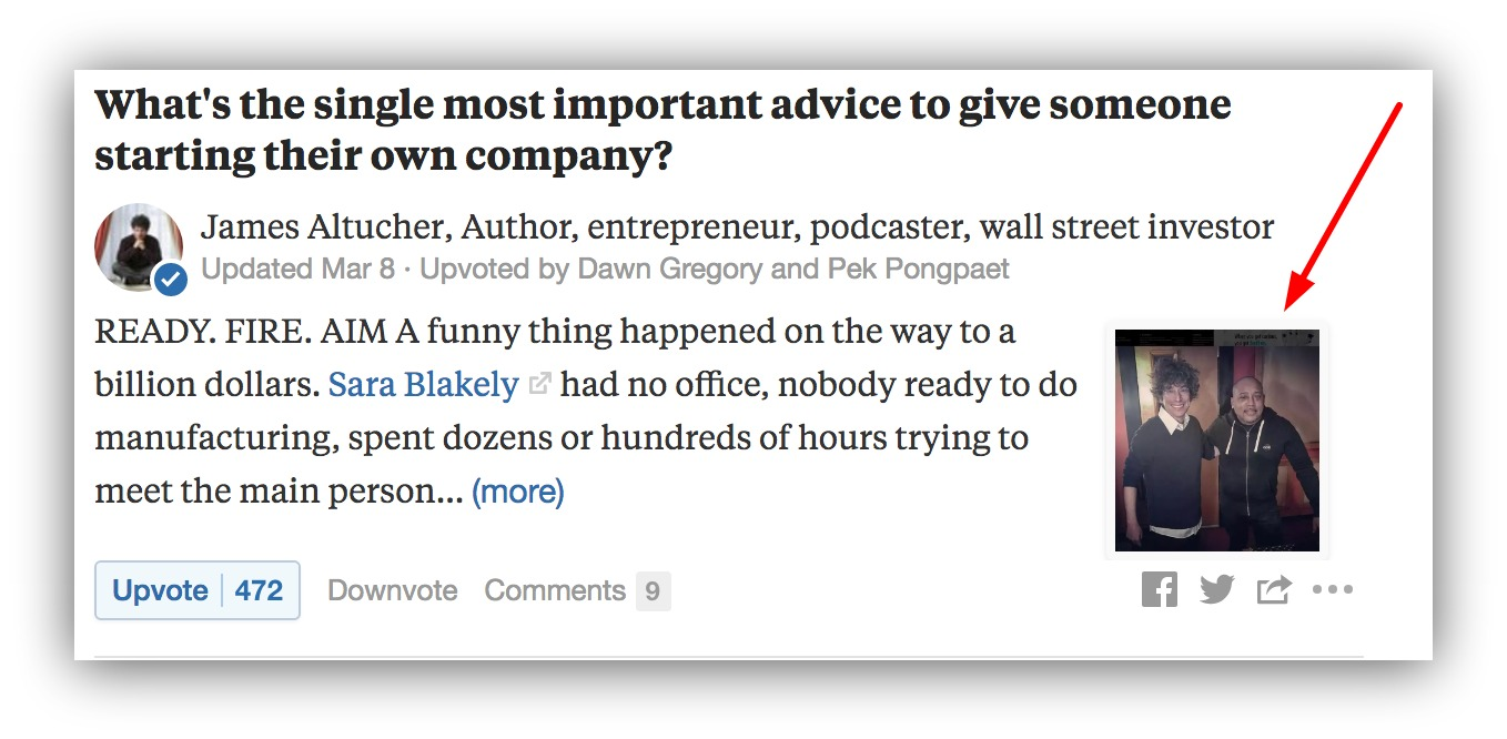 Screenshot showing a picture on a Quora answer