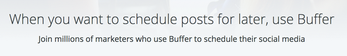 Buffer social proof