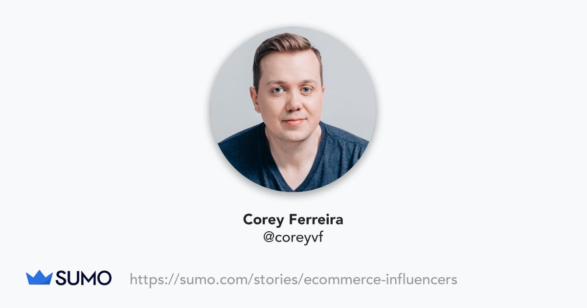 Screenshot of Corey Ferreira