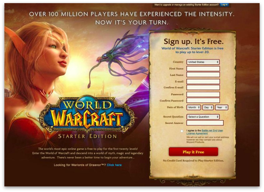 world of warcraft play it free cta