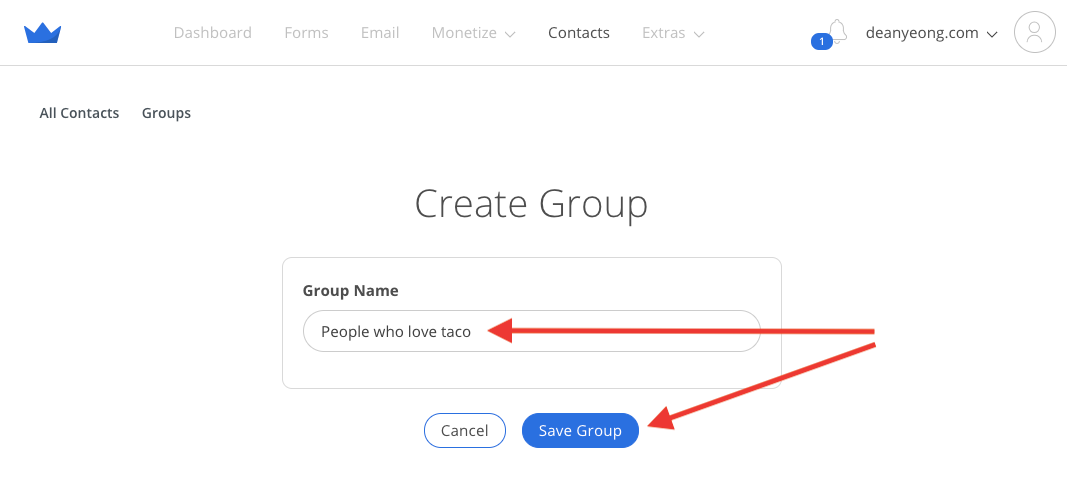 Screenshot of process of naming a group in Sumo
