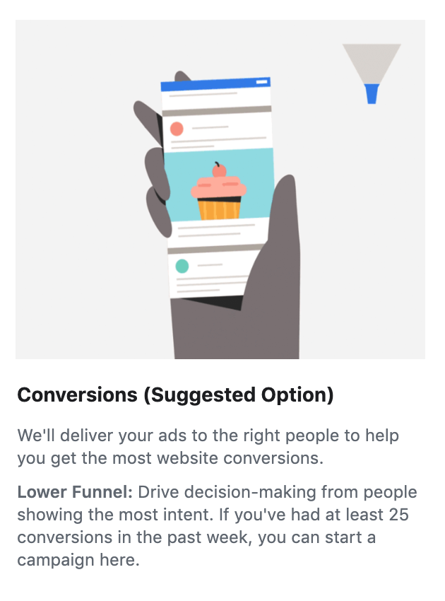 Screenshot showing Facebook ad notification