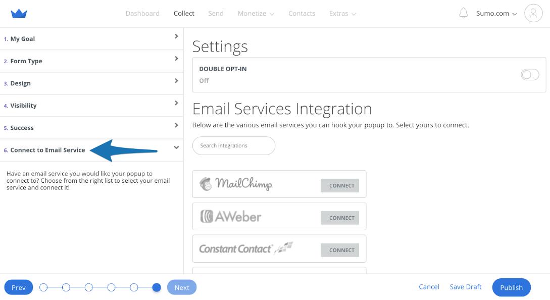 Screenshot showing Sumo form setting
