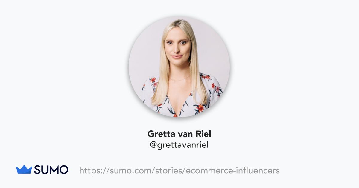 Screenshot of Gretta van Riel