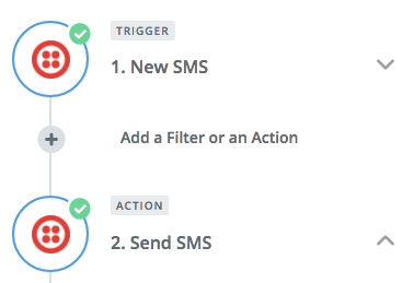 Screenshot showing an sms funnel