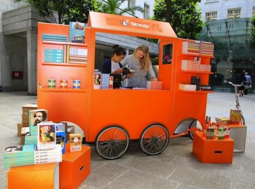 Screenshot showing a book cart