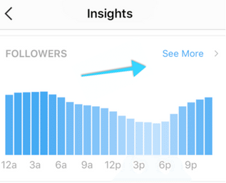 Followers section of Instagram Insights