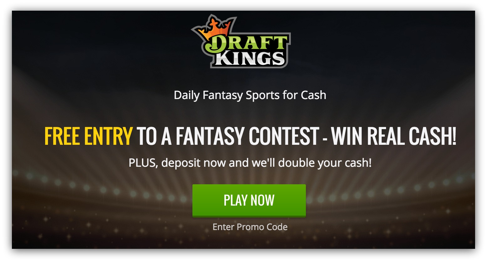 Screenshot showing an incentive offered by DraftKings