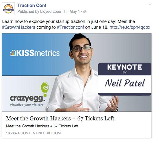 Screenshot showing a facebook post