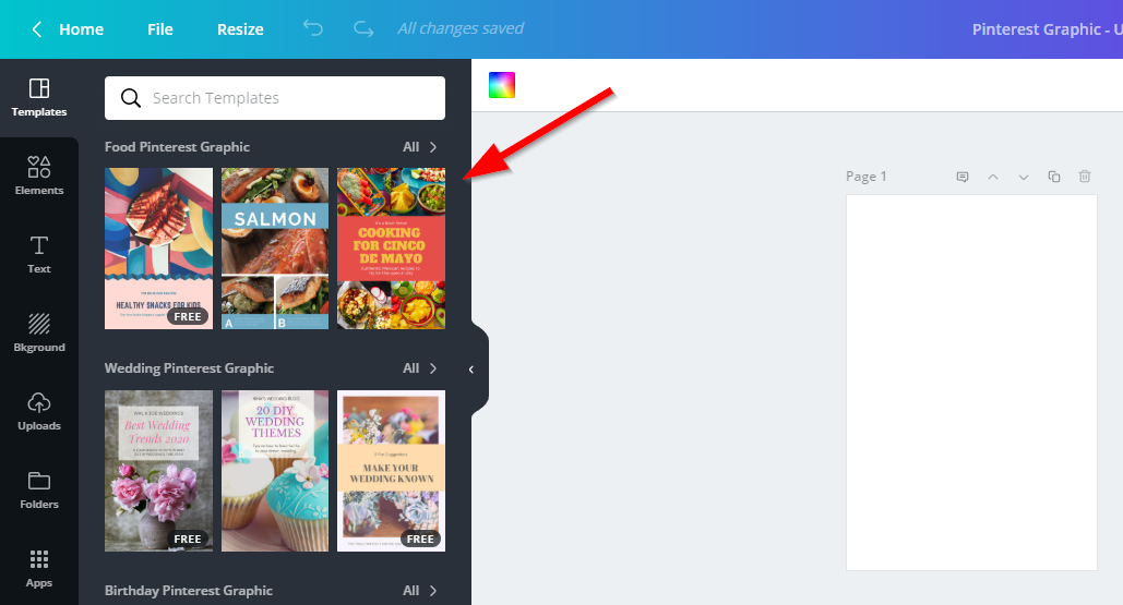 Screenshot showing Canva