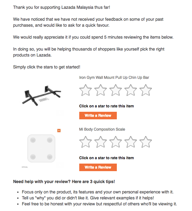 Screenshot showing a promotional email