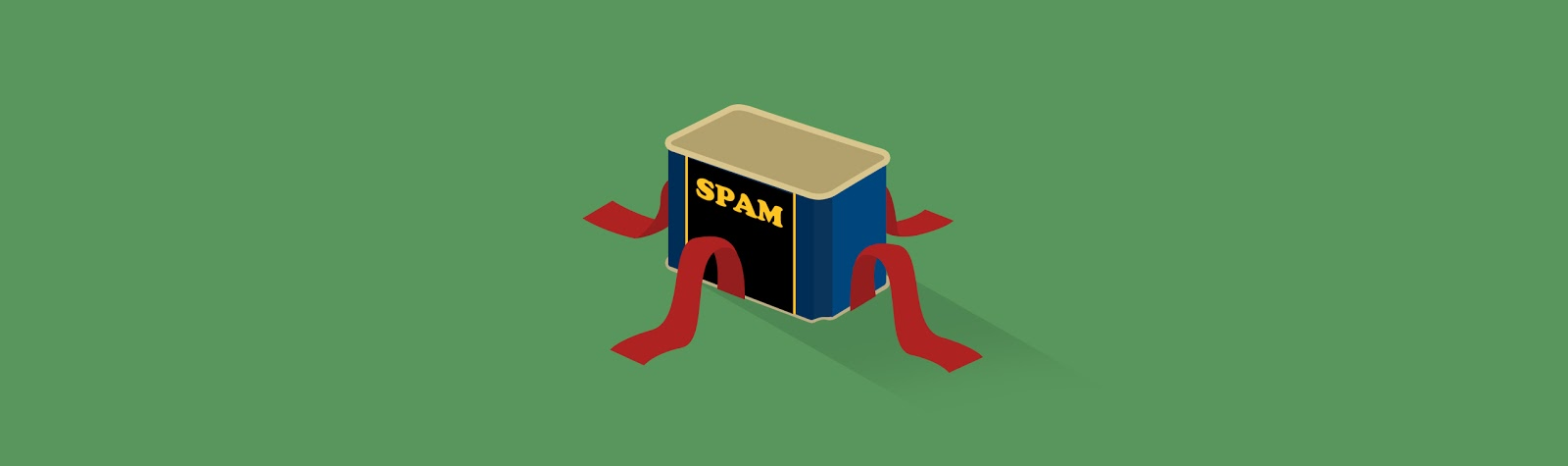Graphic showing a spam box