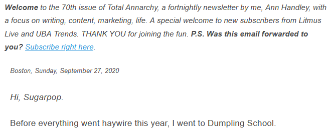 Popular newsletter of Total Anarchy