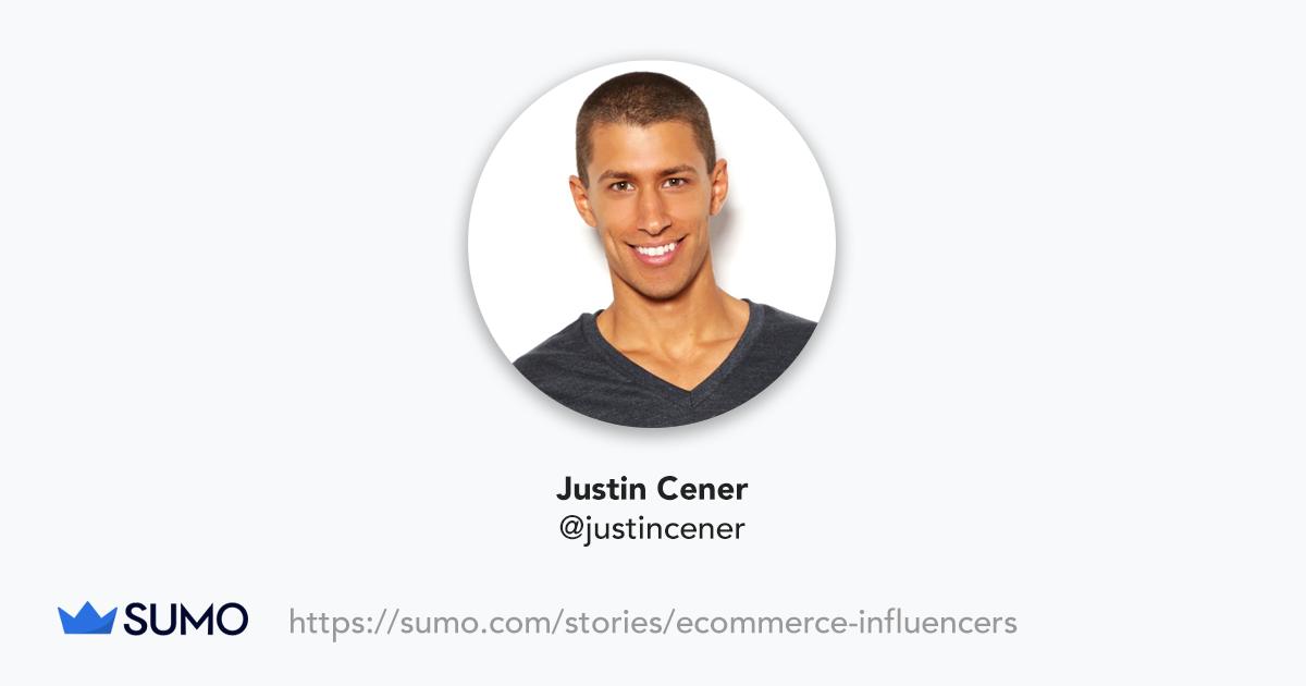 Screenshot of Justin Cener
