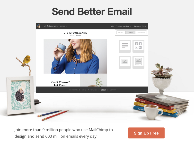 Mailchimp social proof