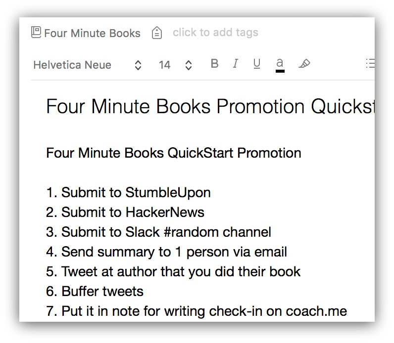 four minute books quickstart promotion