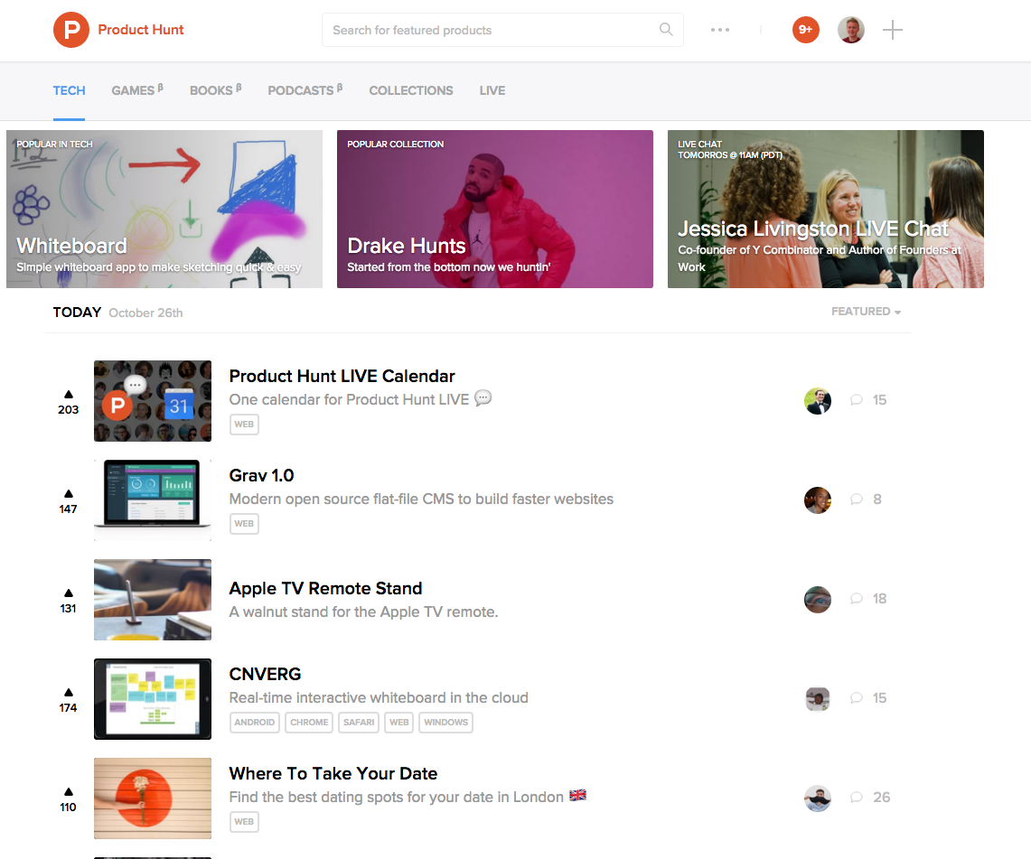 Product Hunt social proof